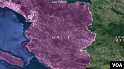 Kat jewografik peyi Dayiti.