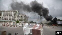 Affrontements entre des membres du groupe chiite, du Mouvement islamique nigérian (IMN) et la police, le 22 juillet 2019. (Photo: AFP)