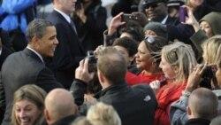 باراک اوباما در نخستین کمپین انتخاباتی دور دوم ریاست جمهوری