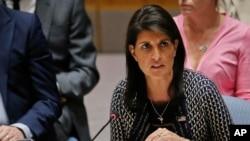 La embajadora de EE.UU. en la ONU dijo al Consejo de Seguridad que Irán se esconde detrás de su afirmación de conformidad técnica con el acuerdo nuclear.