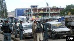 Hiện trường sau vụ tấn công của các phần tử vũ trang tại tỉnh Khost, ngày 22/5/2011