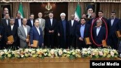 عبدالرسول دری اصفهانی در جمع اعضای ارشد کابینه حسن روحانی