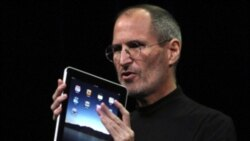 Apple chief Steve Jobs introduces the iPad in San Francisco, California, last year