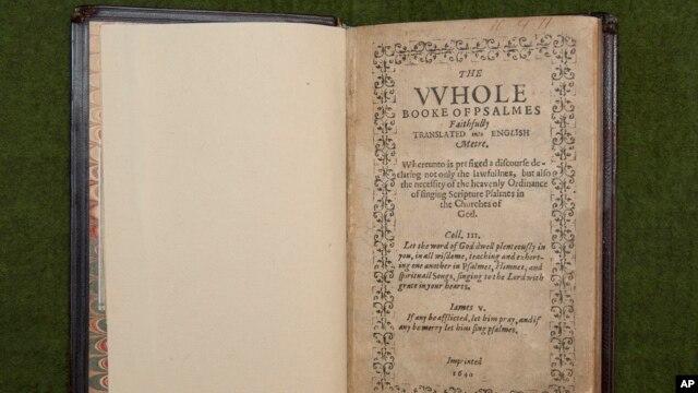 Cuốn sách kinh Bay Psalm