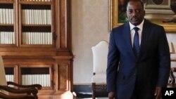 Le président de la RDC lors de son entretien avec le pape au Vatican, le 26 septembre 2016.