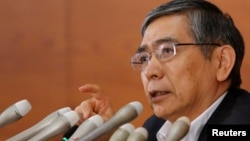 "Bank of Japan Governor Haruhiko Kuroda has said Japan's economy ""is likely to expand."""