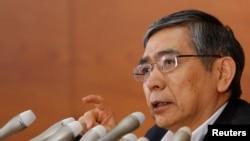 FILE - Bank of Japan Governor Haruhiko Kuroda.
