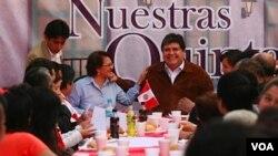 El presidente peruano Alan García dijo que Perú y Brasil crecerán más del 5 por ciento el próximo año.