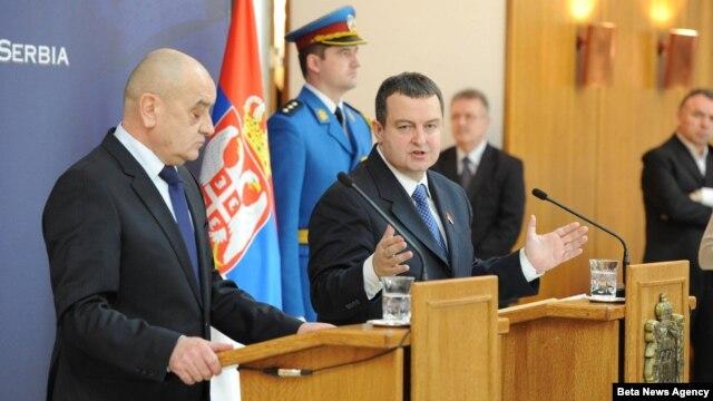 Premijer Srbije Ivica Dačić i predsedavajući Saveta ministara BiH Vjekoslav Bevanda u Palati Srbija u Beogradu.