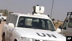 A UNAMID patrol in Darfur