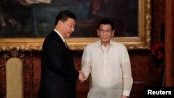 菲律賓總統杜特爾特在菲律賓馬尼拉馬拉坎南總統府會見中國國家主席習近平。(2018年11月20日)