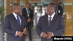 Presidente Filipe Nyusi e Ossufo Momade, líder da Renamo