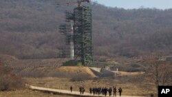 Bệ phóng phi đạn Tongchang-ri ở Bắc Triều Tiên.
