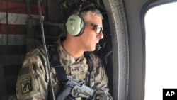 U.S. Army Lt. Gen. Stephen Townsend during a tour north of Baghdad, Iraq, Feb. 8, 2017. Townsend said he believes Islamic State leader Abu Bakr al-Baghdadi is still alive.