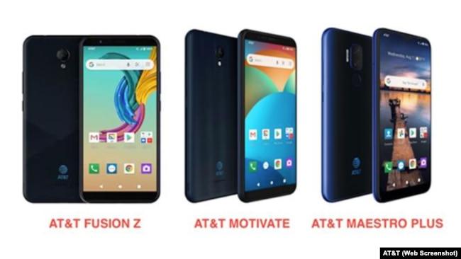 Điện thoại do VinSmart sản xuất mang nhãn hiệu AT&T.
