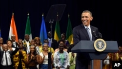 President Barack Obama speaks at the Young African Leaders Initiative Presidential Summit in Washington. (Aug. 3, 2015.)