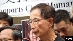 香港民主黨創黨主席李柱銘 (美國之音湯惠芸拍攝)