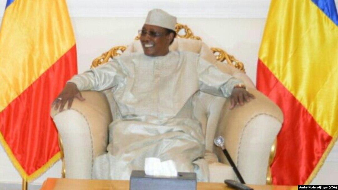 Idriss Déby Itno, président de la république du Tchad, le 21 août 2019. (VOA/André Kodmadjingar).