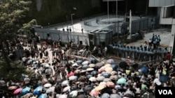 香港政府宣佈重開俗稱公民廣場的政府總部東翼前地。(資料圖片)