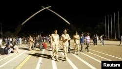 İraq təhlükəsizlik qüvvələri Sədr tərəfdarlarının toplaşdığı meydanda