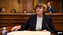 Рейчел Митчелл на слушаниях в Юридическом комитете Сената. 27 сентября 2018 г.