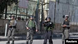 Des soldats israéliens dans la ville de Bethléem, 22 janvier 2016.