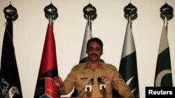 پاکستانی فوج کے ترجمان میجر جنرل آصف غفور۔ فائل فوٹو