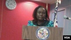 UNkosikazi Edna Masiiwa, umqondisi wenhlanganiso yeWomen's Action Group, omunye walabo akade besemhlanganweni lo.