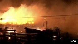 Sandy a provoqué un incendie dans le quartier de Queens à New York
