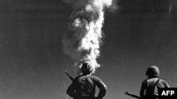 Ядерные испытания в американском штате Невада. Снимок 1952 года