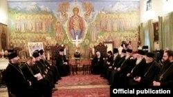 საქართველოს და კონსტანტინოპოლის ეკლესიათა წმინდა სინოდის წევრთა შეხვედრა