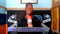 Ayiti: Plizyè Dizèn Moun Manifeste nan Gonayiv pou Mande Resposab yo Repare Waf la Siklòn Matthew te Domaje