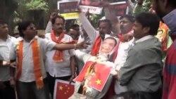 印度民眾抗議迎李克強到訪