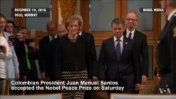 Colombia's Santos Touts Peace Prize as 'Gift from Heaven'