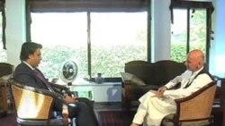 مصاحبه اختصاصی تلویزیون اشنا با اشرف غنی احمد زی
