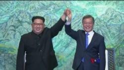 2018-04-27 美國之音視頻新聞: 南北韓同意努力邁向結束韓戰
