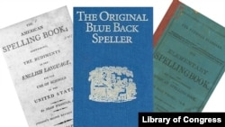 "Three editions of Noah Webster's ""Blue-Backed Speller"""