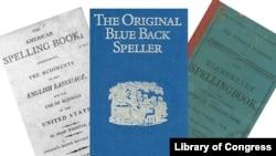 """Three editions of Noah Webster's """"Blue-Backed Speller"""""""