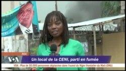Incendie dans l'entrepôt de la CENI à Kinshasa