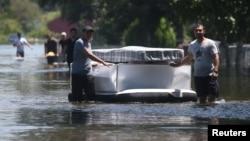 哈維颶風登陸後在德克薩斯州5天連降創紀錄的暴雨,造成得州東南部地區洪水氾濫