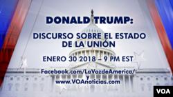 Anons sa a di an espayòl : Donald Trump - Diskou sou Eta Inyon an, 30 Janvye 2018 - a 9 Vè Diswa.