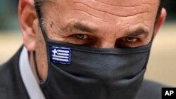 Yunanistan Savunma Bakanı Nikolaos Panagiotopoulos (arşiv)