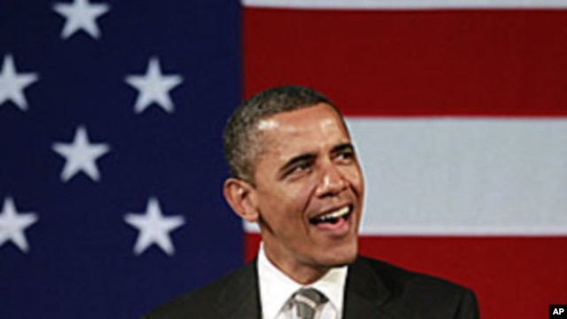 President Barack Obama at a campaign event, at the Apollo Theater in the Harlem neighborhood of New York, January 19, 2012.