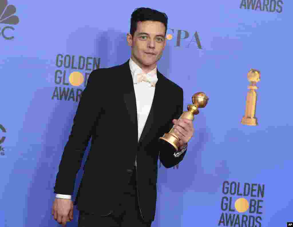 رامی مالک فلم بوہیمین راپسوڈی میں بہترین اداکار کا ایوارڈ جیتنے میں کامیاب رہے۔