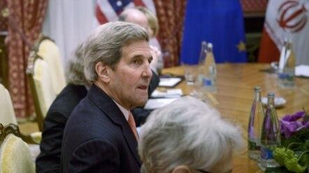 美国国务卿克里在伊朗核协议谈判中。