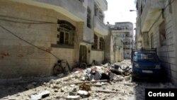 Igisagara ca Homs, kimwe mu bisagara vyugarijwe n'intambara muri Siriya