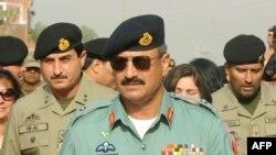 FILE - Major General Rizwan Akhtar arrives for a meeting, at the India-Pakistan Wagah Border Post, July 1, 2012.