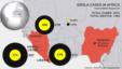 Країни, в яких поширюється вірус Еболи