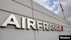 Logo Air France di Bandara Internasional Charle de Gaulle. (Foto:Dok)