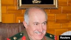 An undated handout photograph distributed by Syria's national news agency SANA shows General Jama'a, a top-ranking general, who was killed in Deir al-Zor city on October 17, 2013, in northeastern Syria.